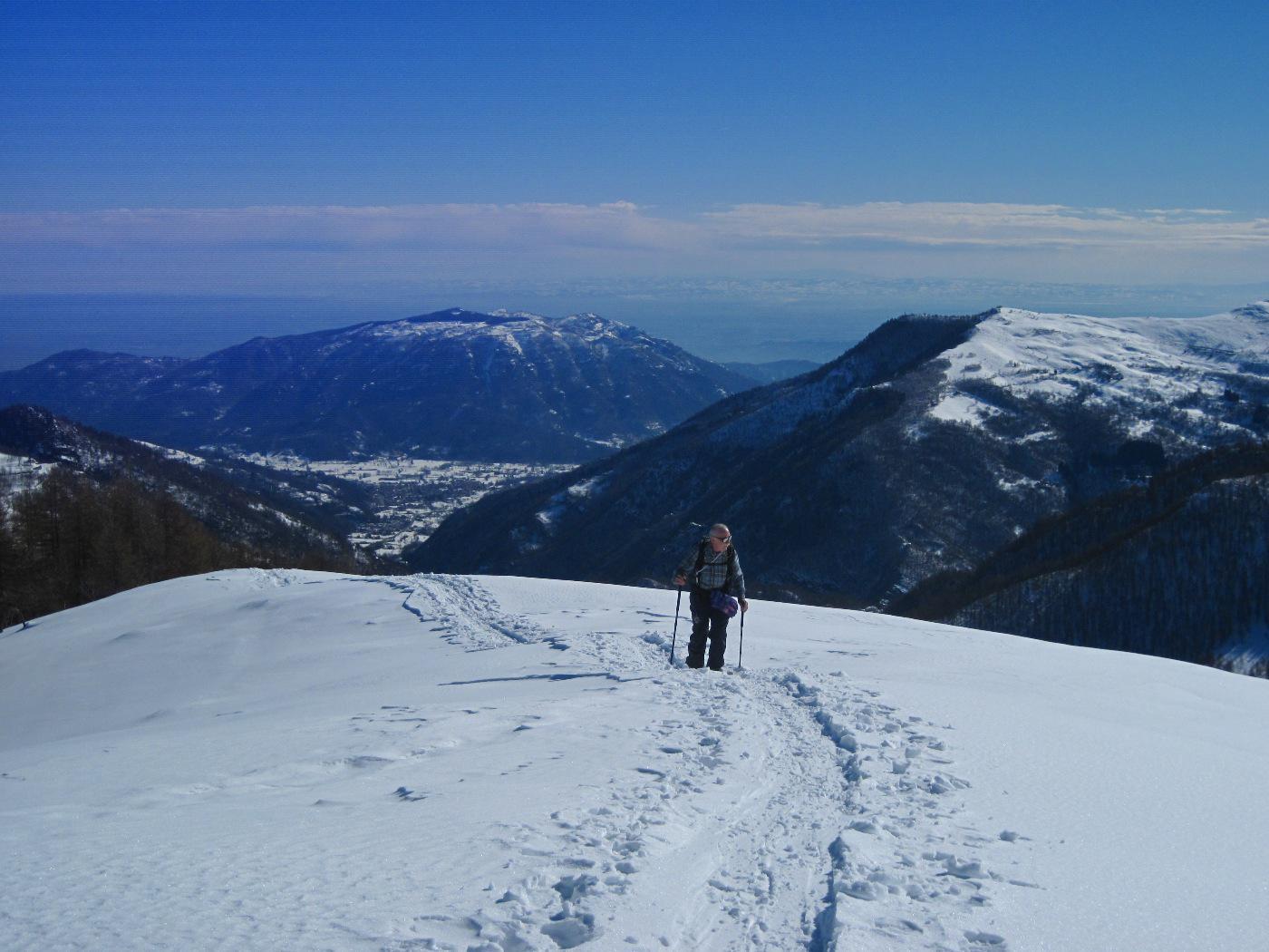 Il monte Bracco e la pianura