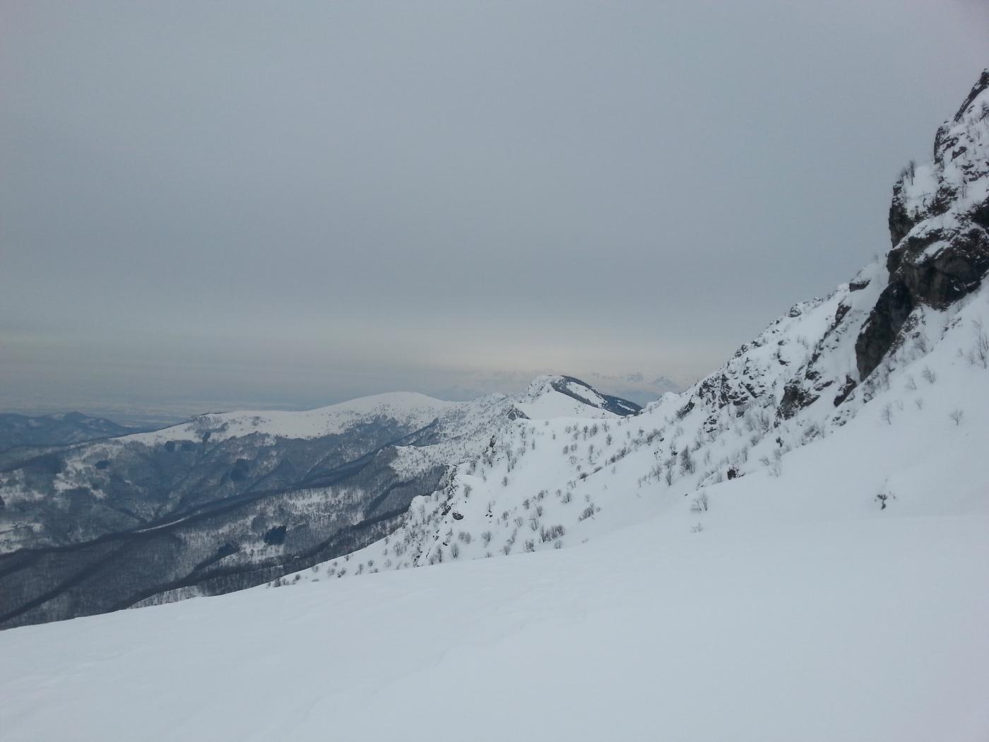Uno sguardo verso l'Alpe e la pianura