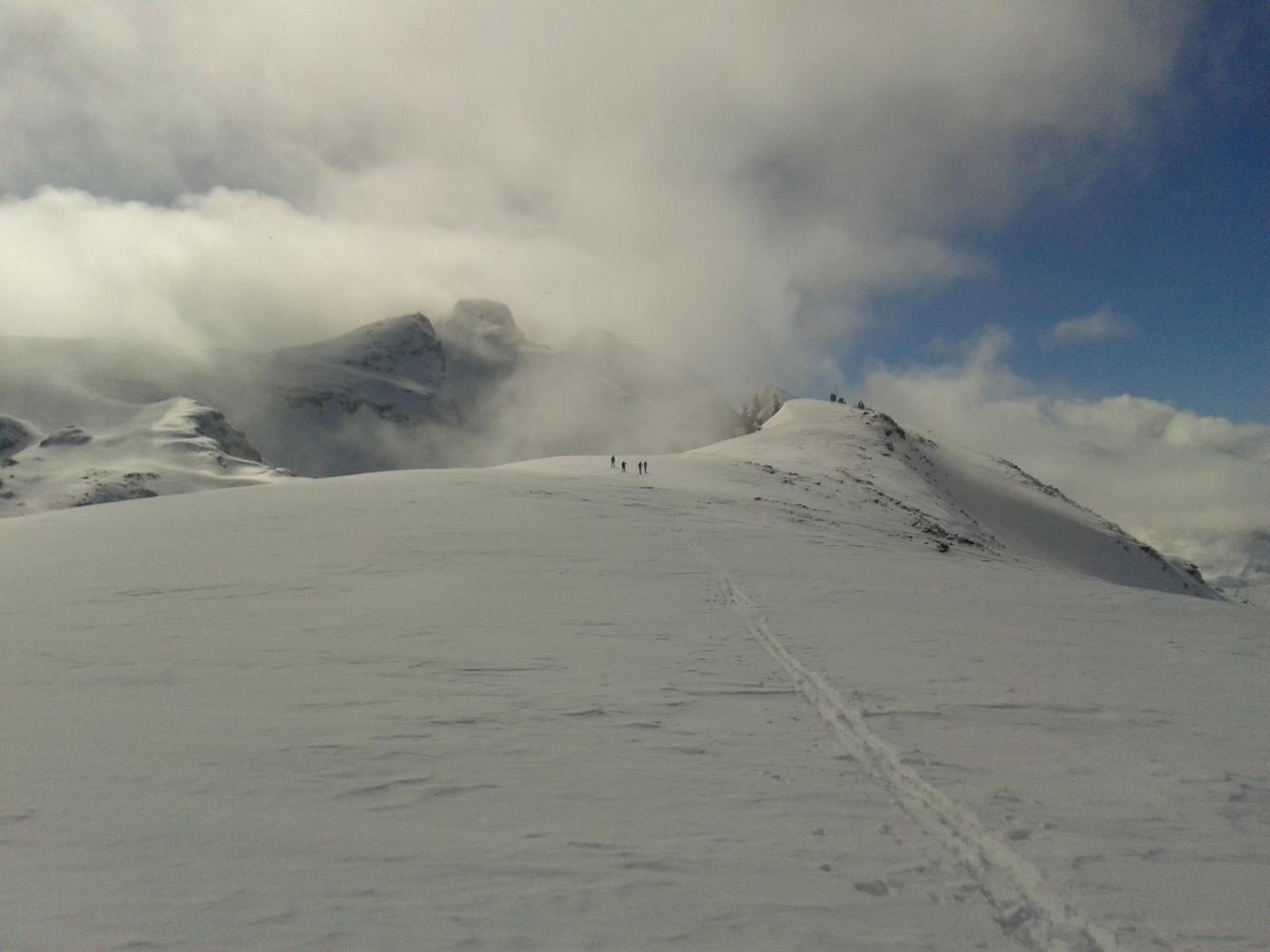 arrivando in cima...con l'Entrelor nella nuvola