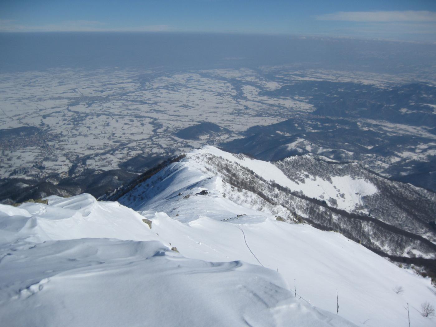 Bisalta o Besimauda (Monte) quota 2150 m da Peveragno, cresta Nord 2015-03-01