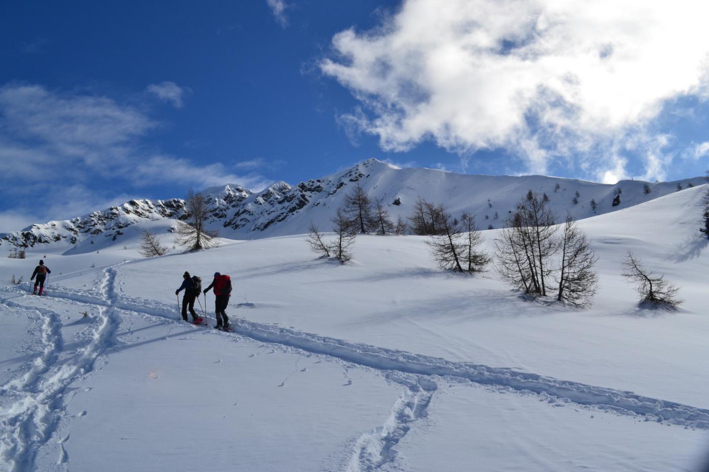 il Monte Lago e la lunga dorsale di salita