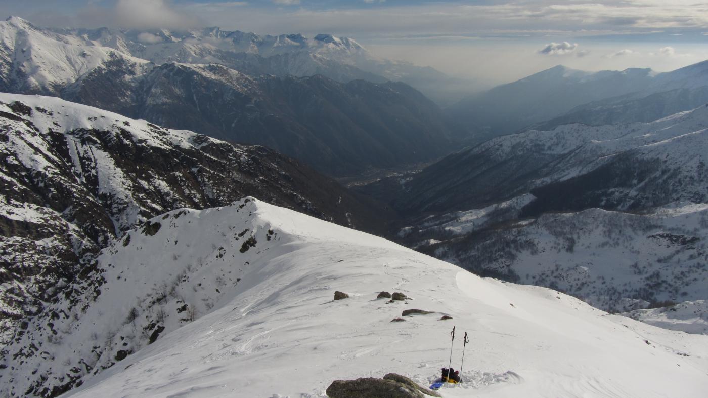 Vista verso valle dal deposito sci