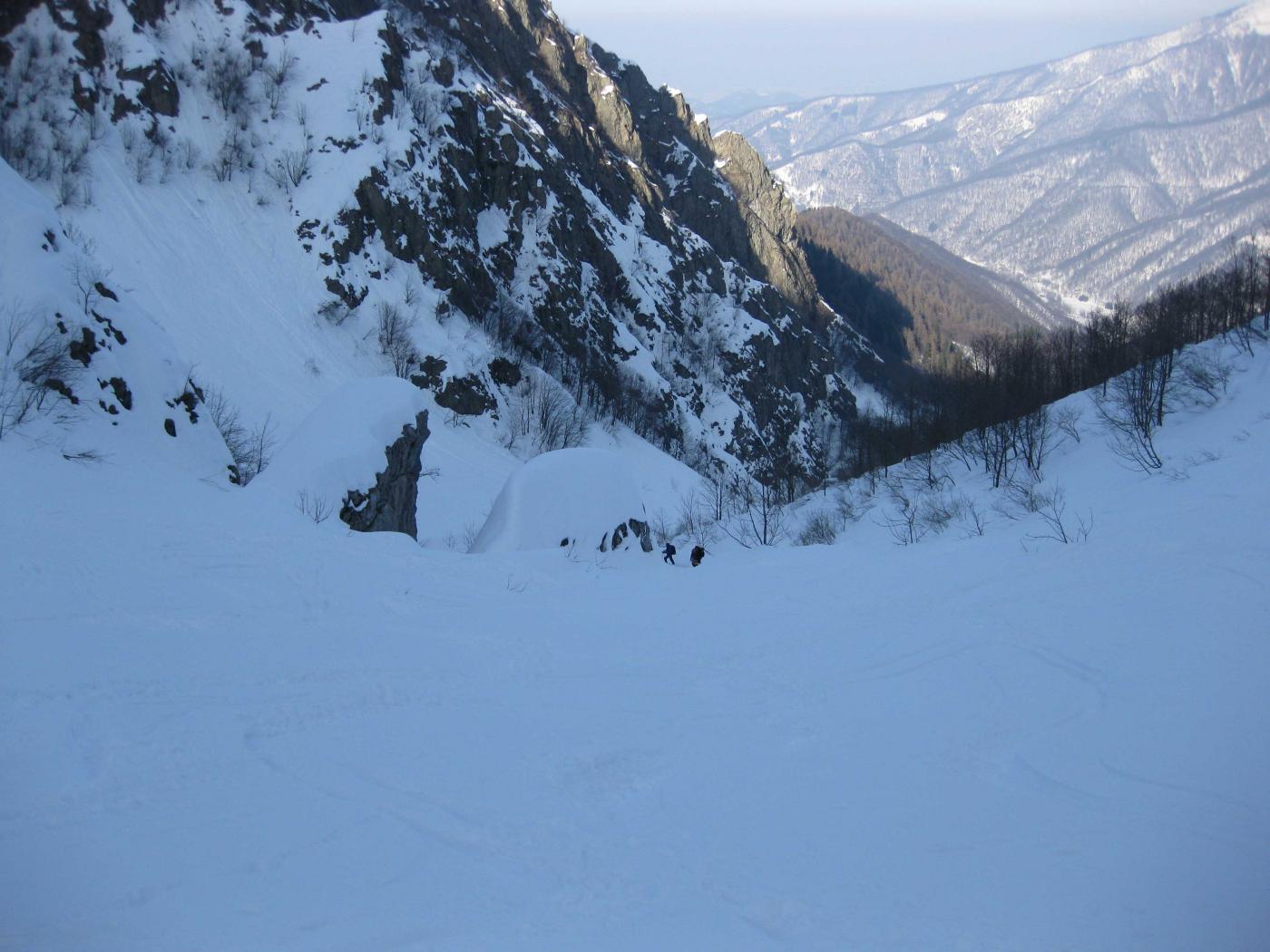 I due grandi blocchi nel Vallone Cravina.
