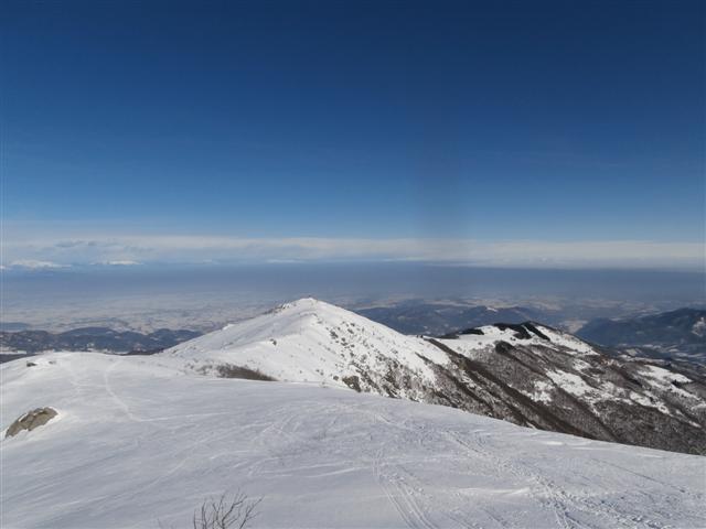 Monte Pigna e la pianura ....uggiosa