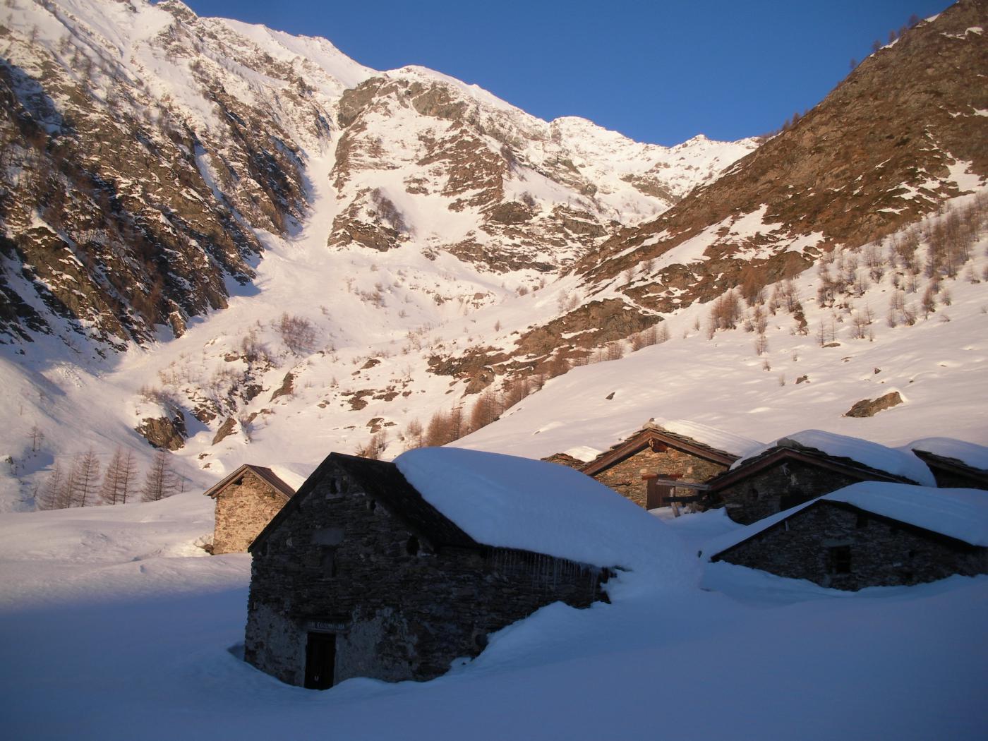 dall'alpe Crosenna il vero canale..