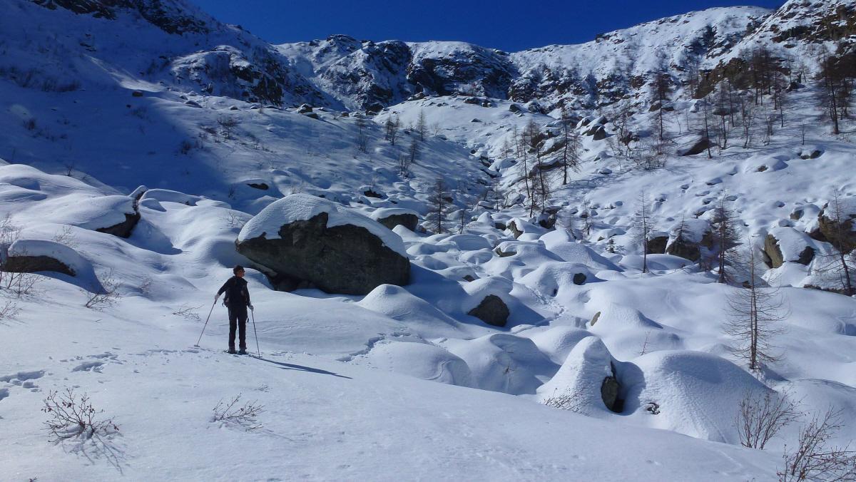 in discesa verso l'Alpe Pian Capanna o Alp a'd Prino