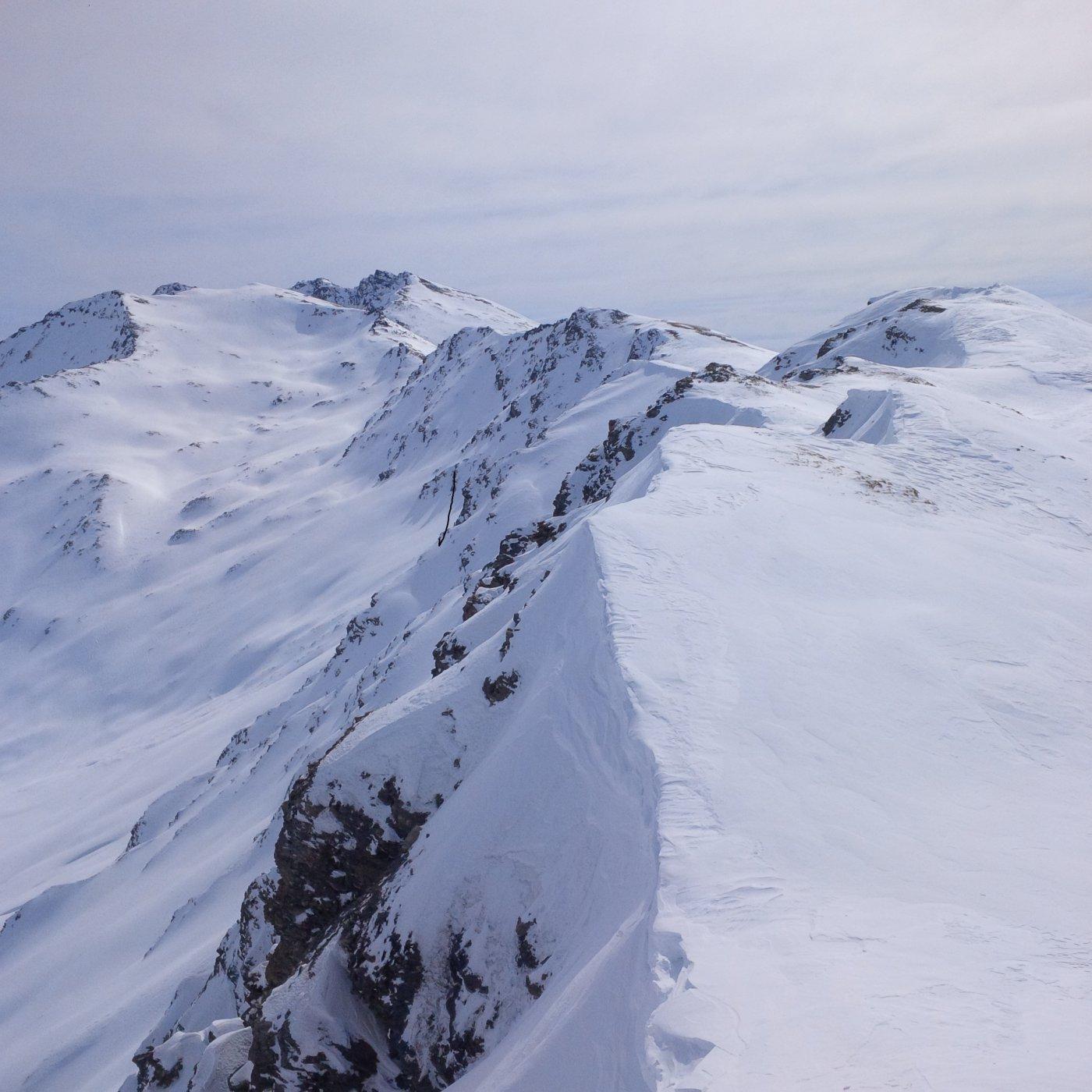 La cresta dalla Dormillouse al Terra Nera (foto E. Lana).