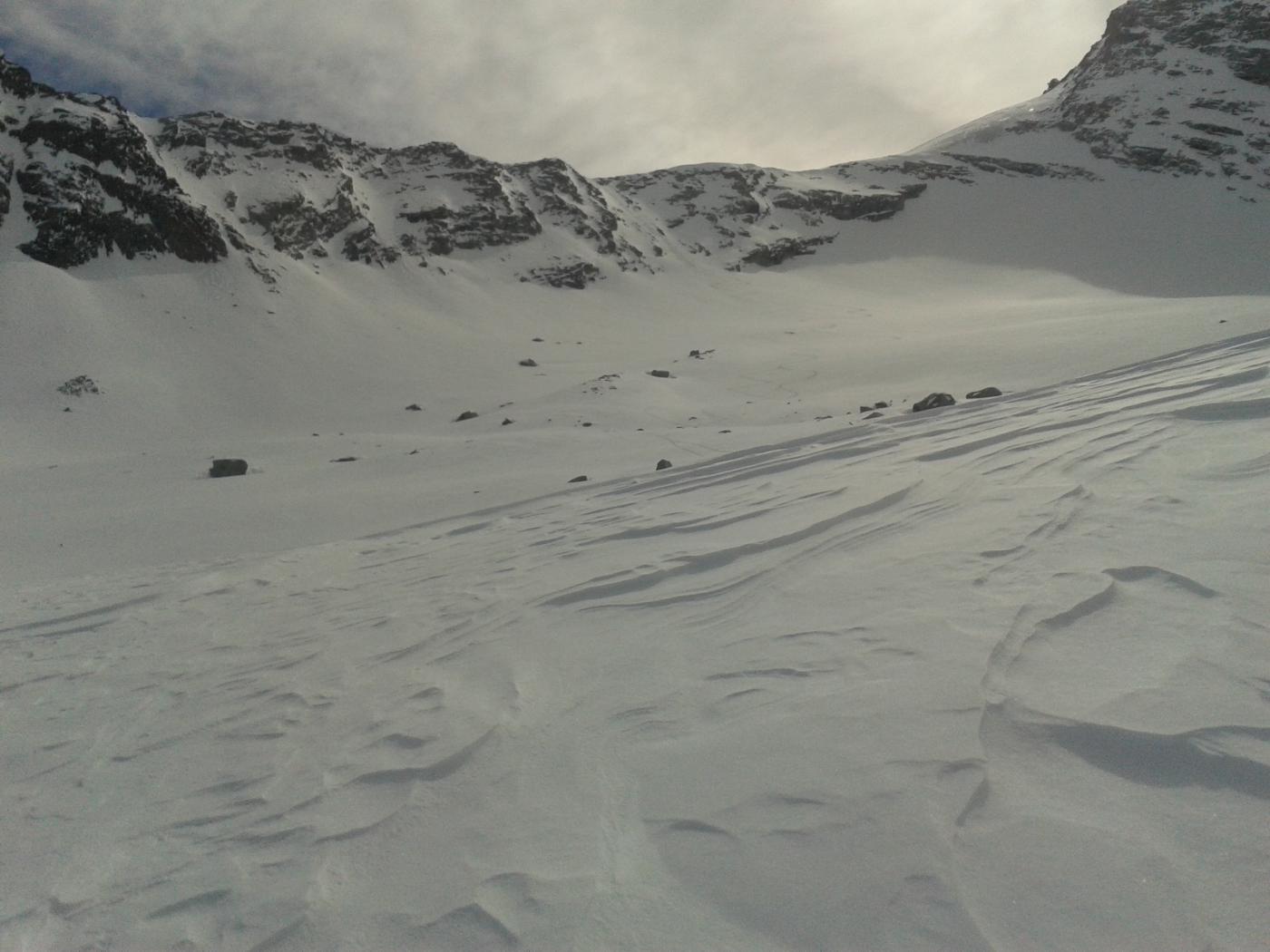 il canale che da accesso al ghiacciaio