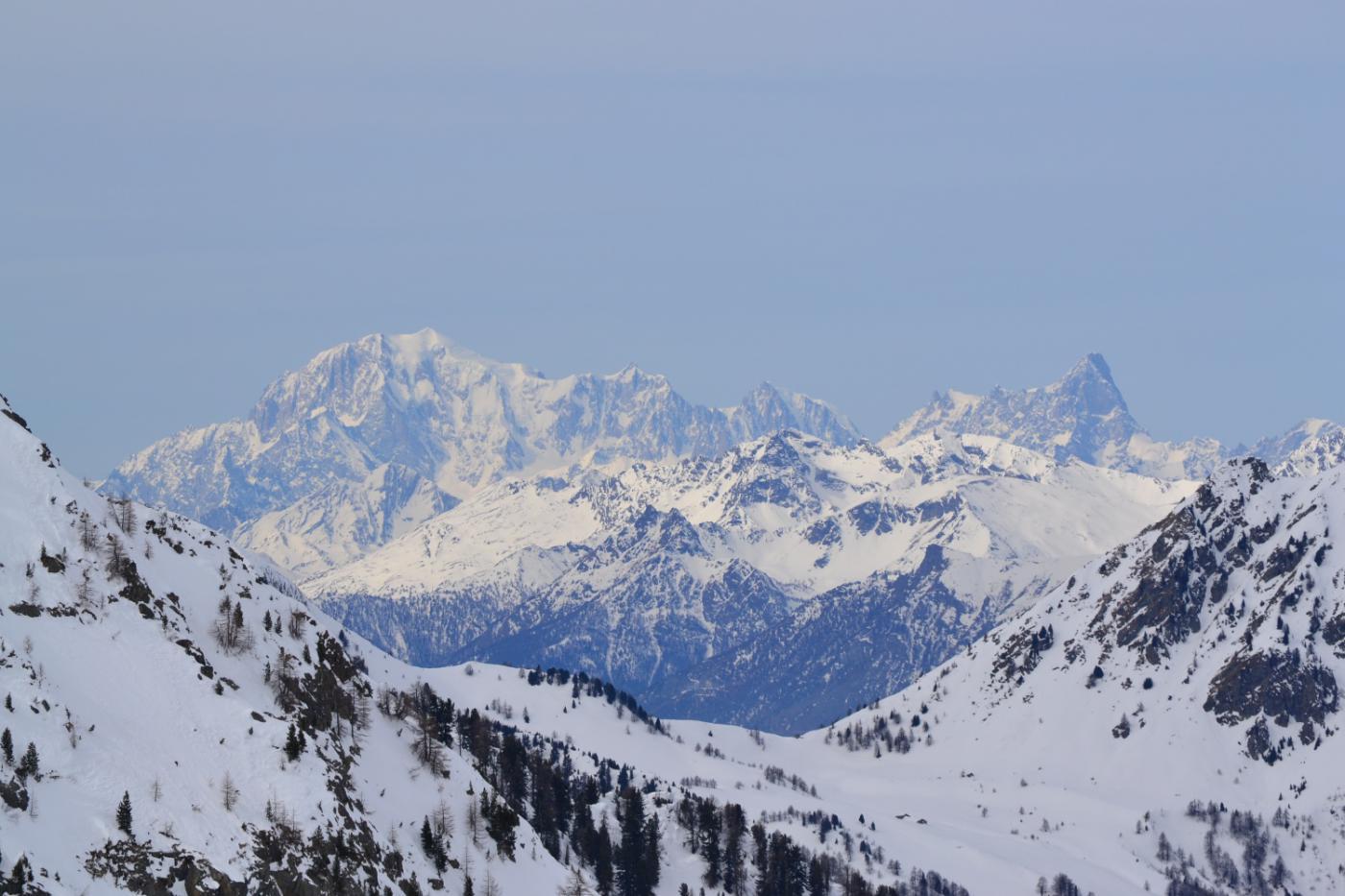 bellissima vista sul Bianco dalla cima