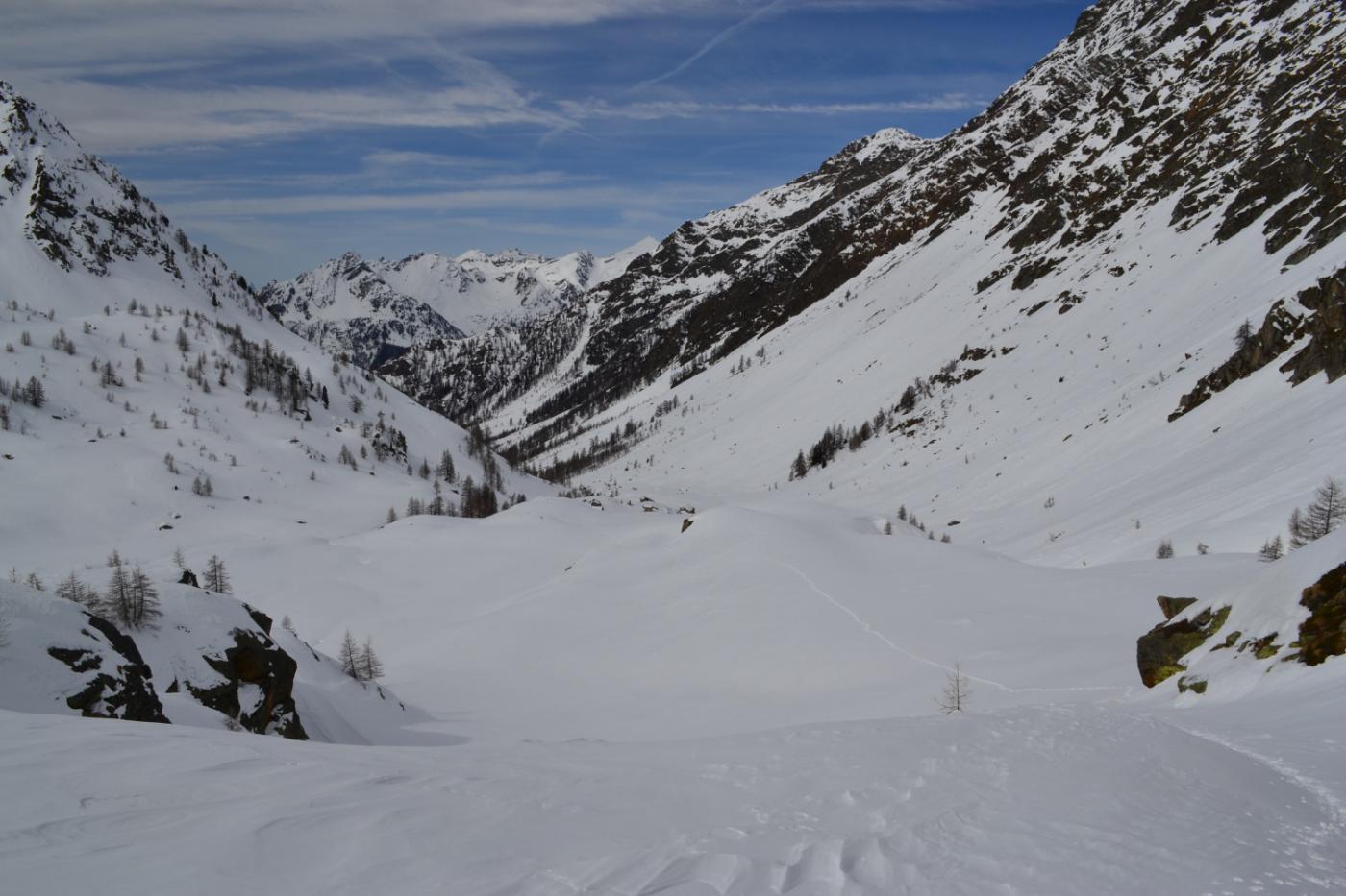 la mia traccia in direzione dell'Alpe Loo di sopra