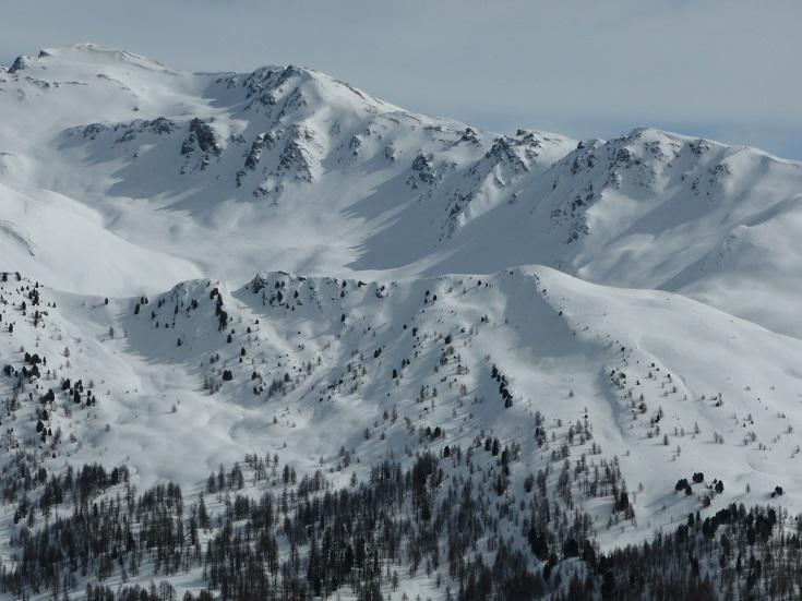 Cima Fournier con dietro a sx cima Dormillouse