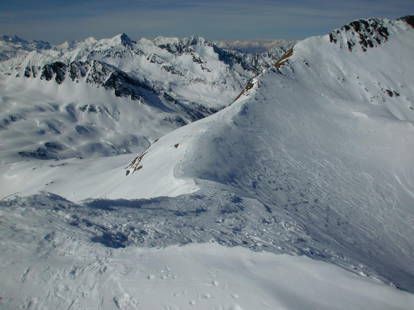 Cresta Ovest vista dalla cima