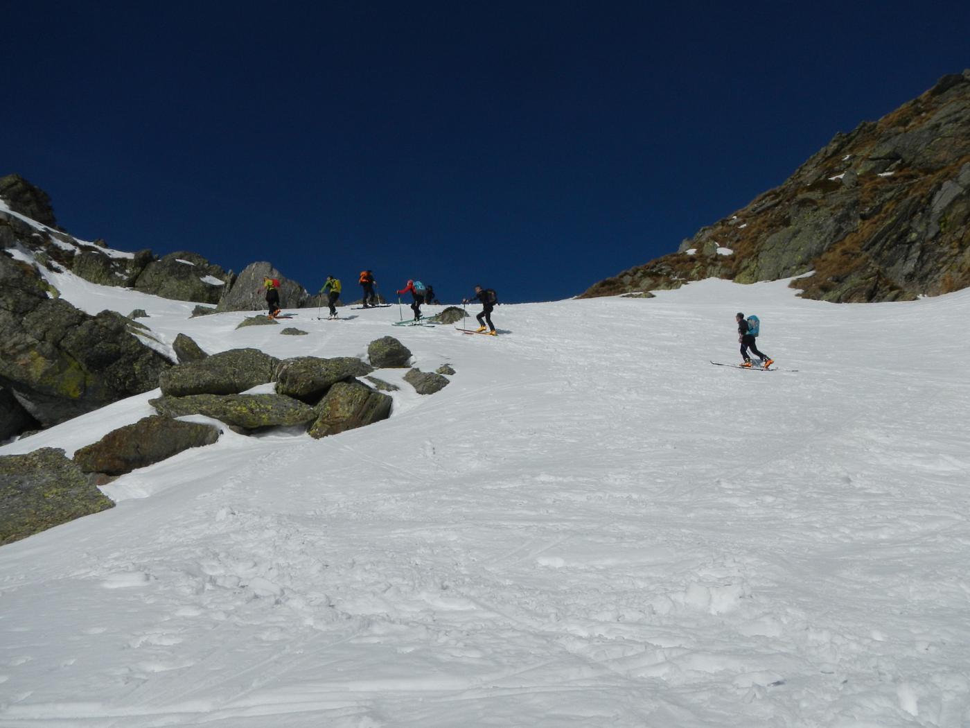 in prossimità del Colle della Bocchetta 2186 m.