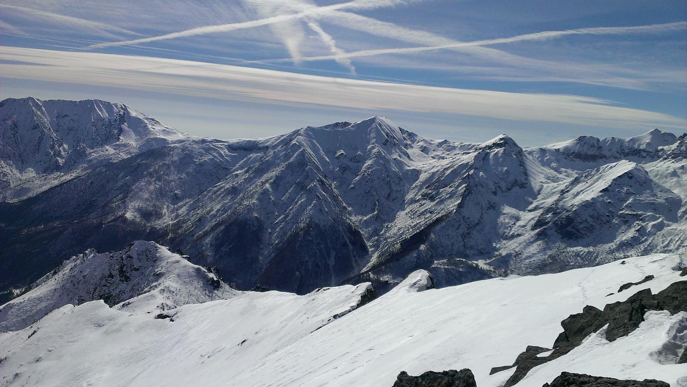 Verso la Val Susa, dalla cima