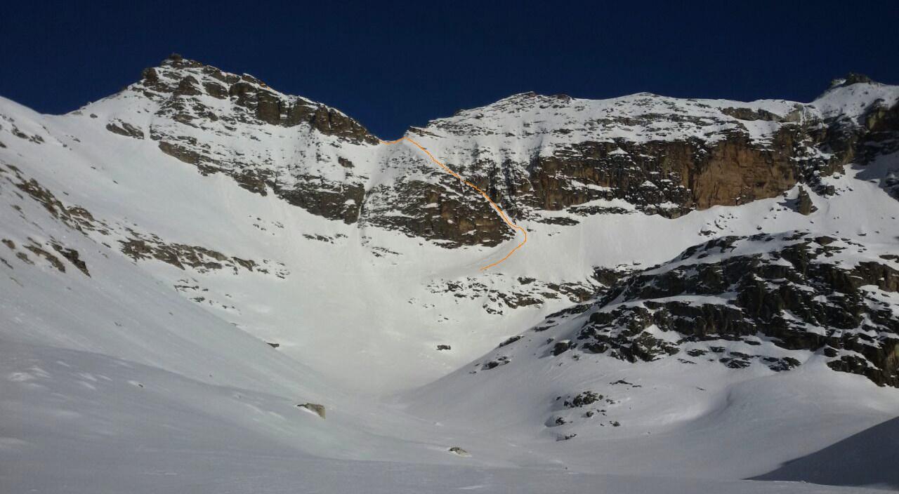 itinerario visto dal Bric Camosciere