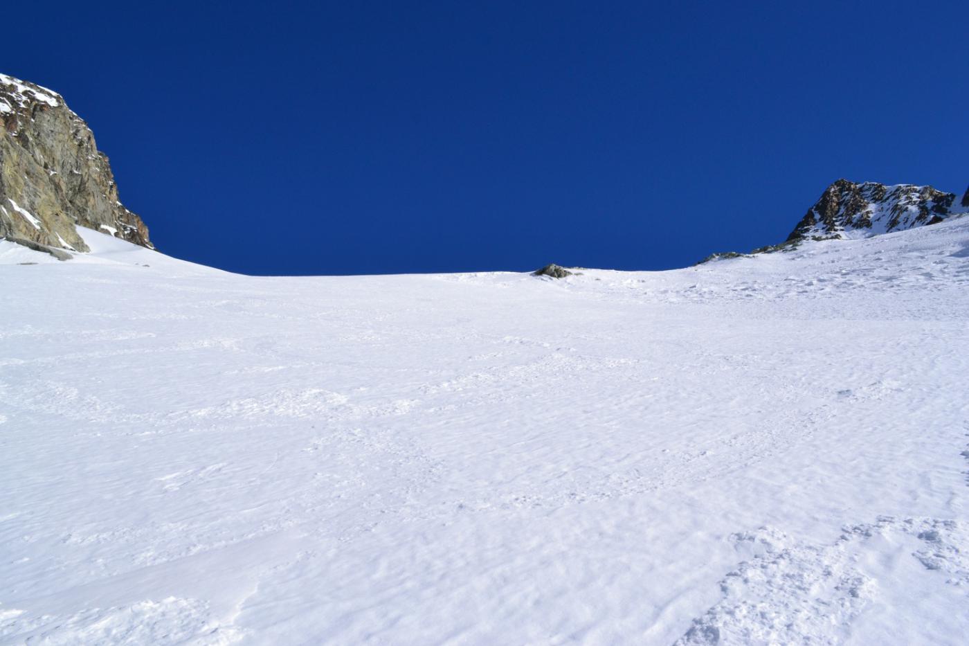 il pendio che conduce al ghiacciaio