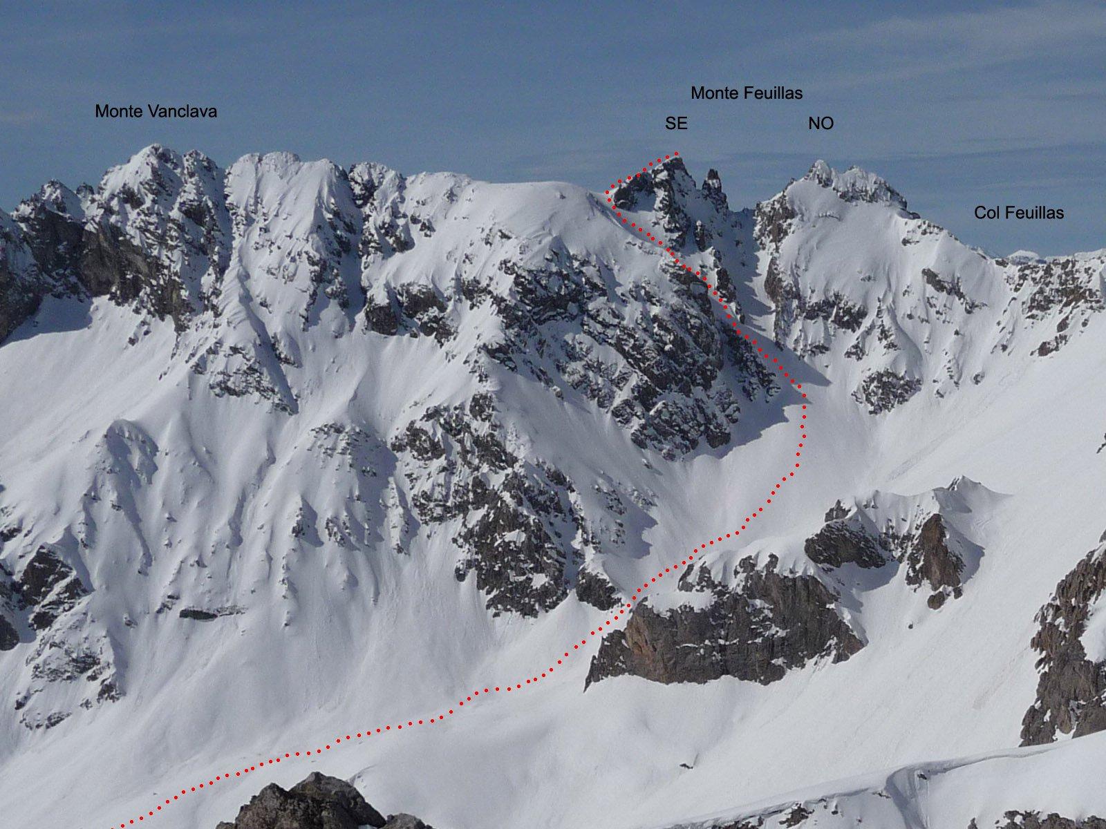 parte finale percorso vista dal Monte Freid
