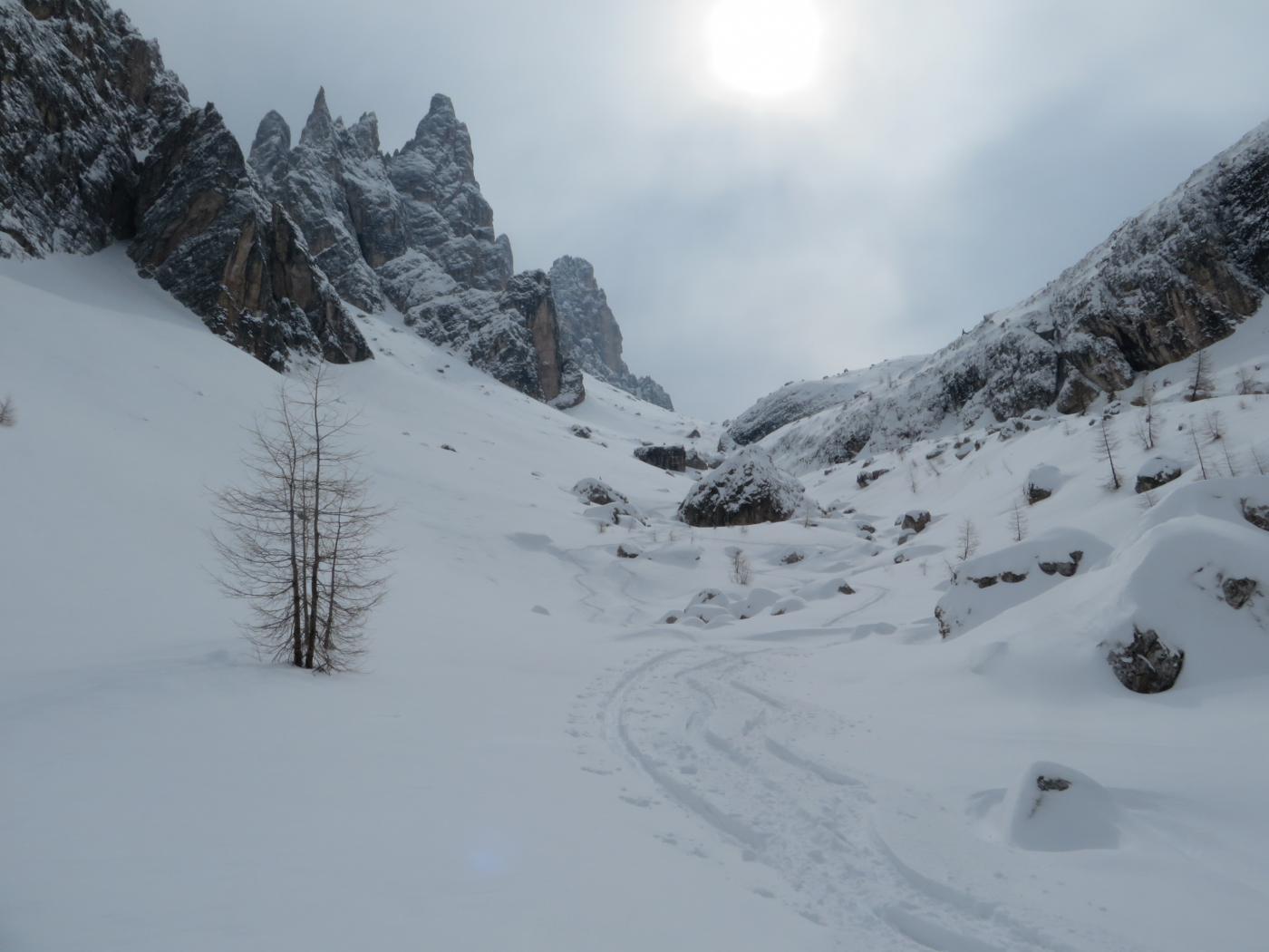 Formin (Monte) da Peziè de Parù e la Val Formin 2015-03-17
