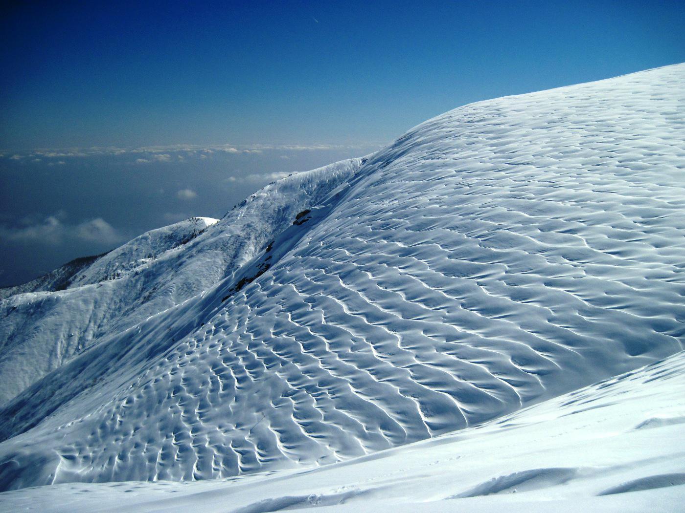 Fantastiche onde di neve