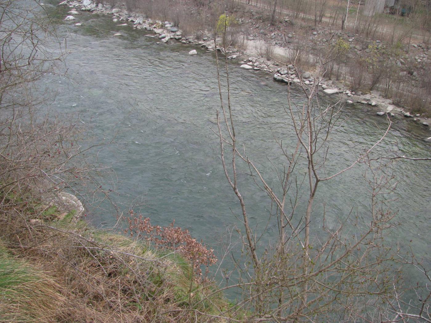 L'Orco a valle della Centrale Genisio