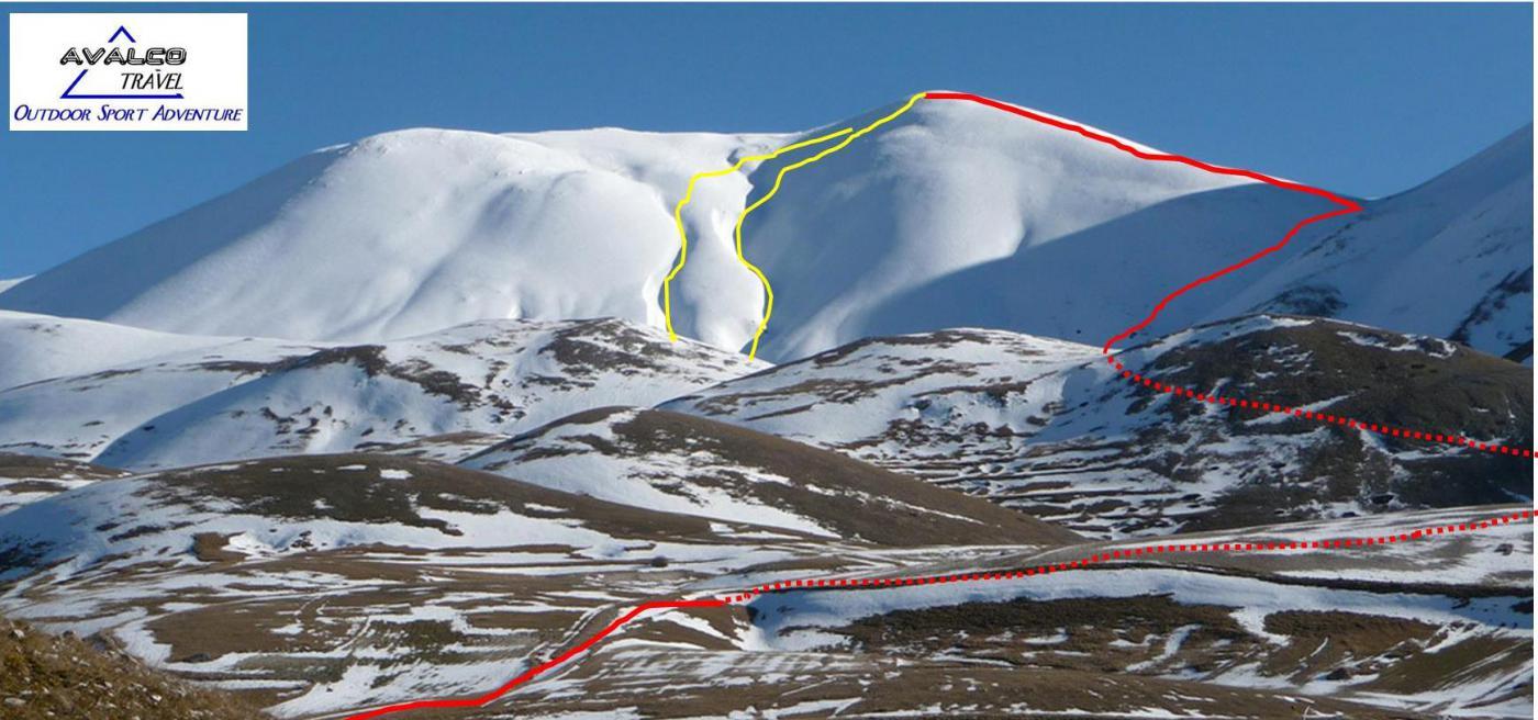 Argentella (Monte) da Castelluccio per il Versante Sud-Ovest 2015-03-23