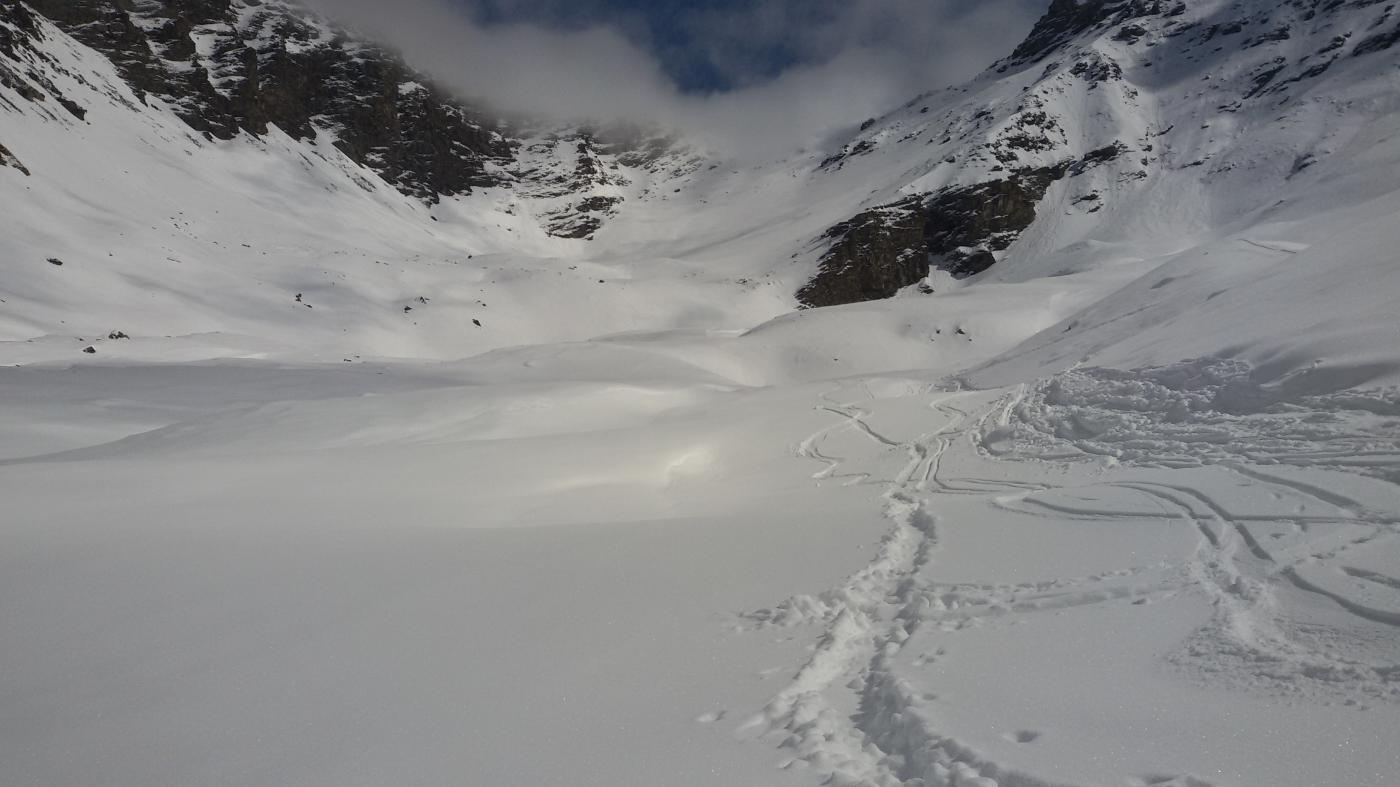 neve polverosa nel Vallone di Sort
