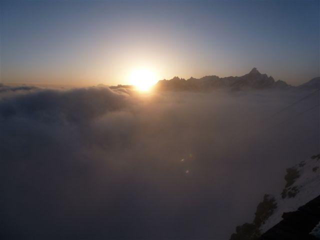 Plateu Rosa: Cervinia è nella nebbia