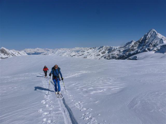Ghiacciaio Mont Miné verso Tetè Blanche