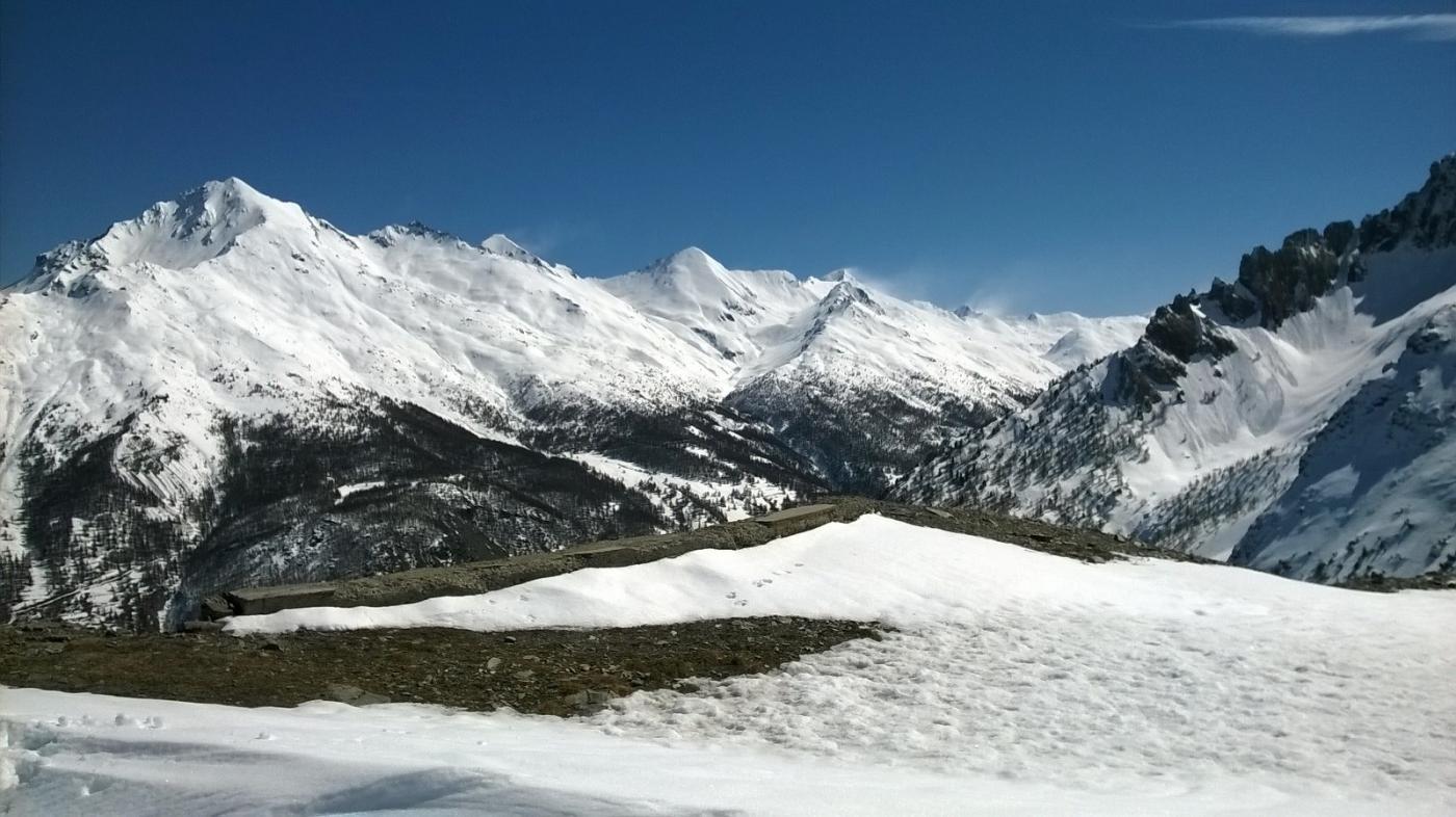 Anche verso la Rognosa tanta neve ma anche tanto vento