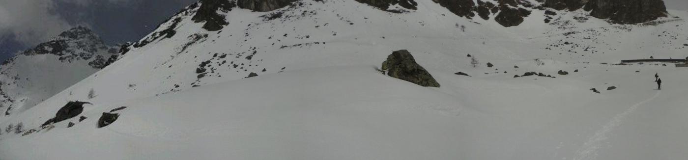 l'arrivo all'alpe Seivaz...