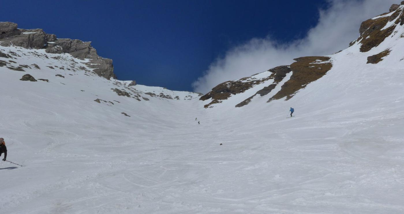 gran sciata nel canale superiore