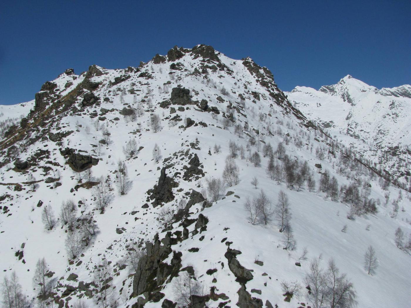 Il Roc delle Teste ed il Monte Colombo