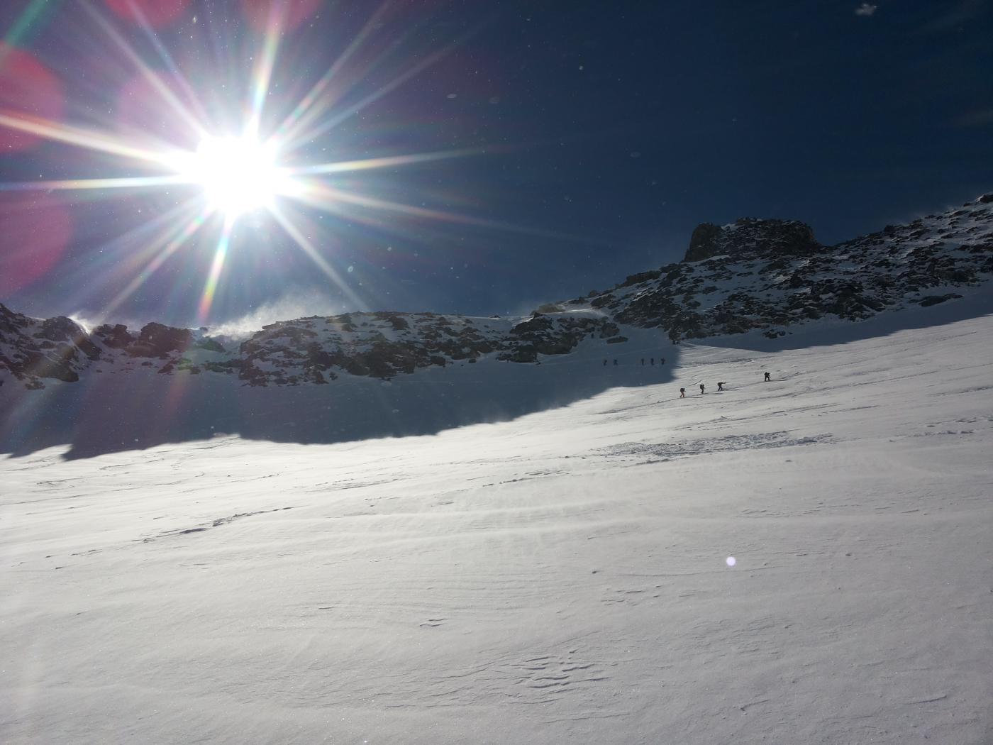 la cima e il deposito sci
