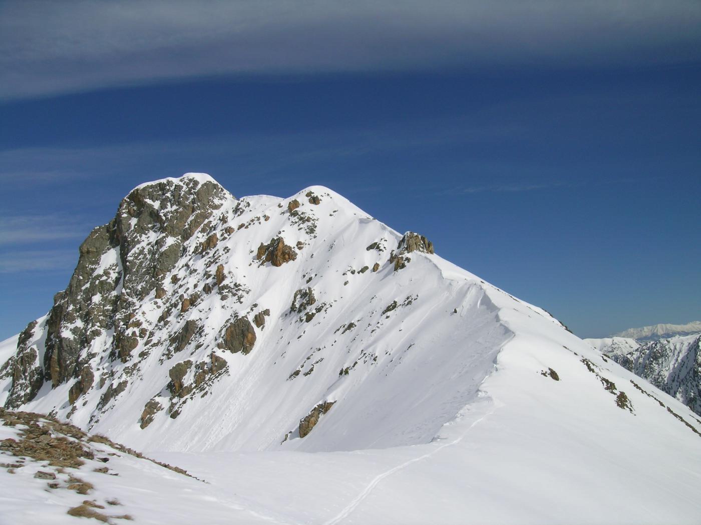 la cresta SO della Rocca Verde
