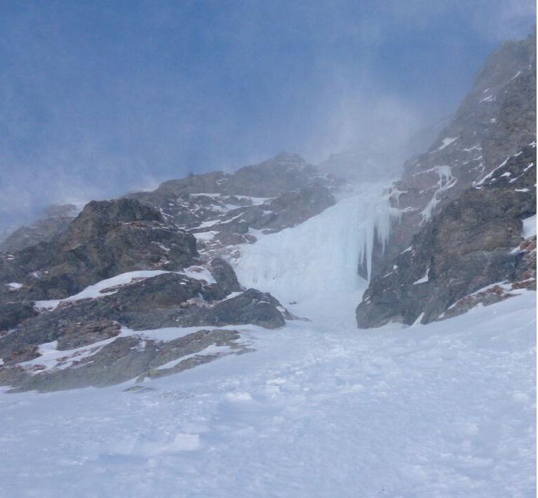 La cascata vista dal basso