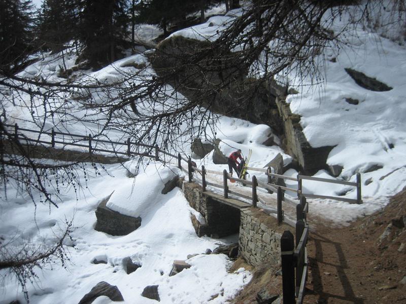 dove si mettono-tolgono gli sci