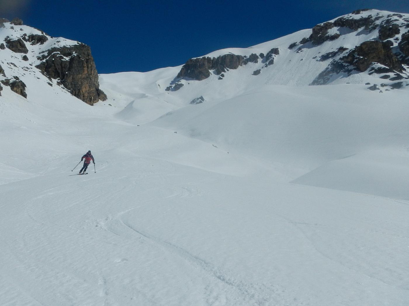 una serie di dossi e pendii ideali per gli sci