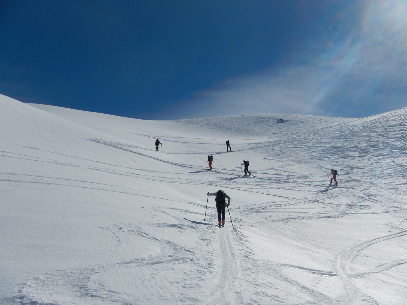 poco sotto il Colle di Bellino 2805 m.
