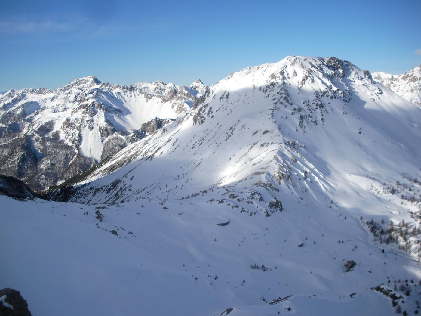 e ancora sempre dall' Arpelin una bella veduta del Col Izoard..