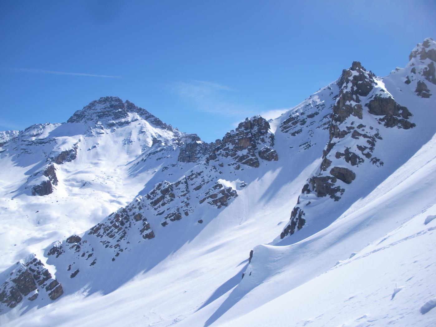 Il Pic de Rochebrune..scendendo..
