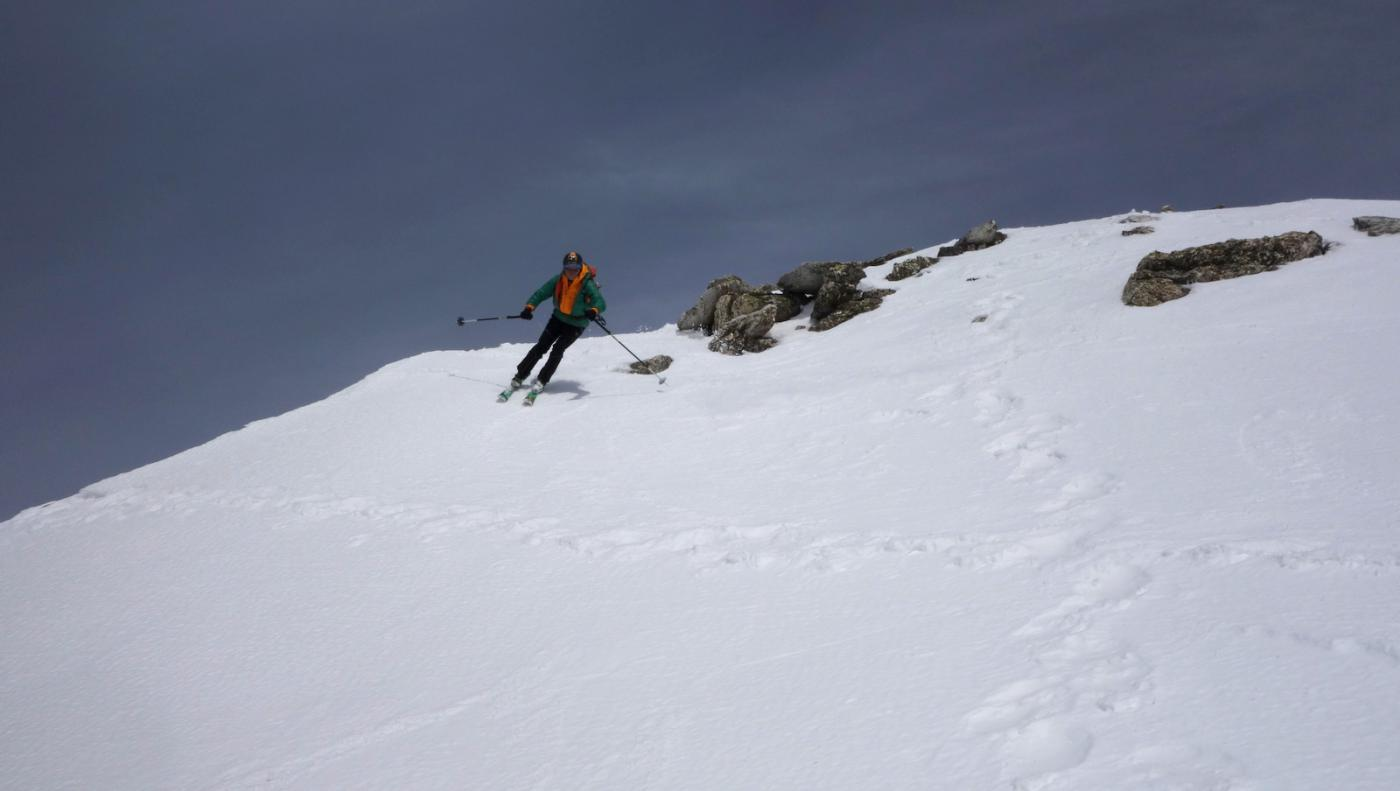 In sci dalla cima