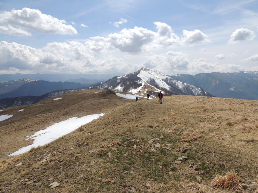 sullo sfondo il monte Carmo di Carrega