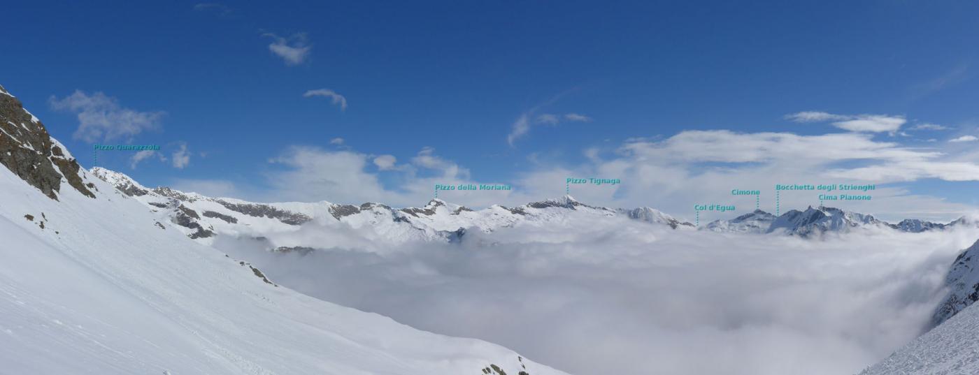 uno sguardo verso il Col d'Egua...