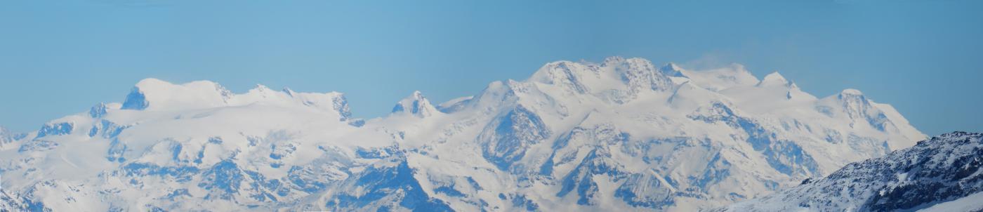 vista su tutto il Monte Rosa