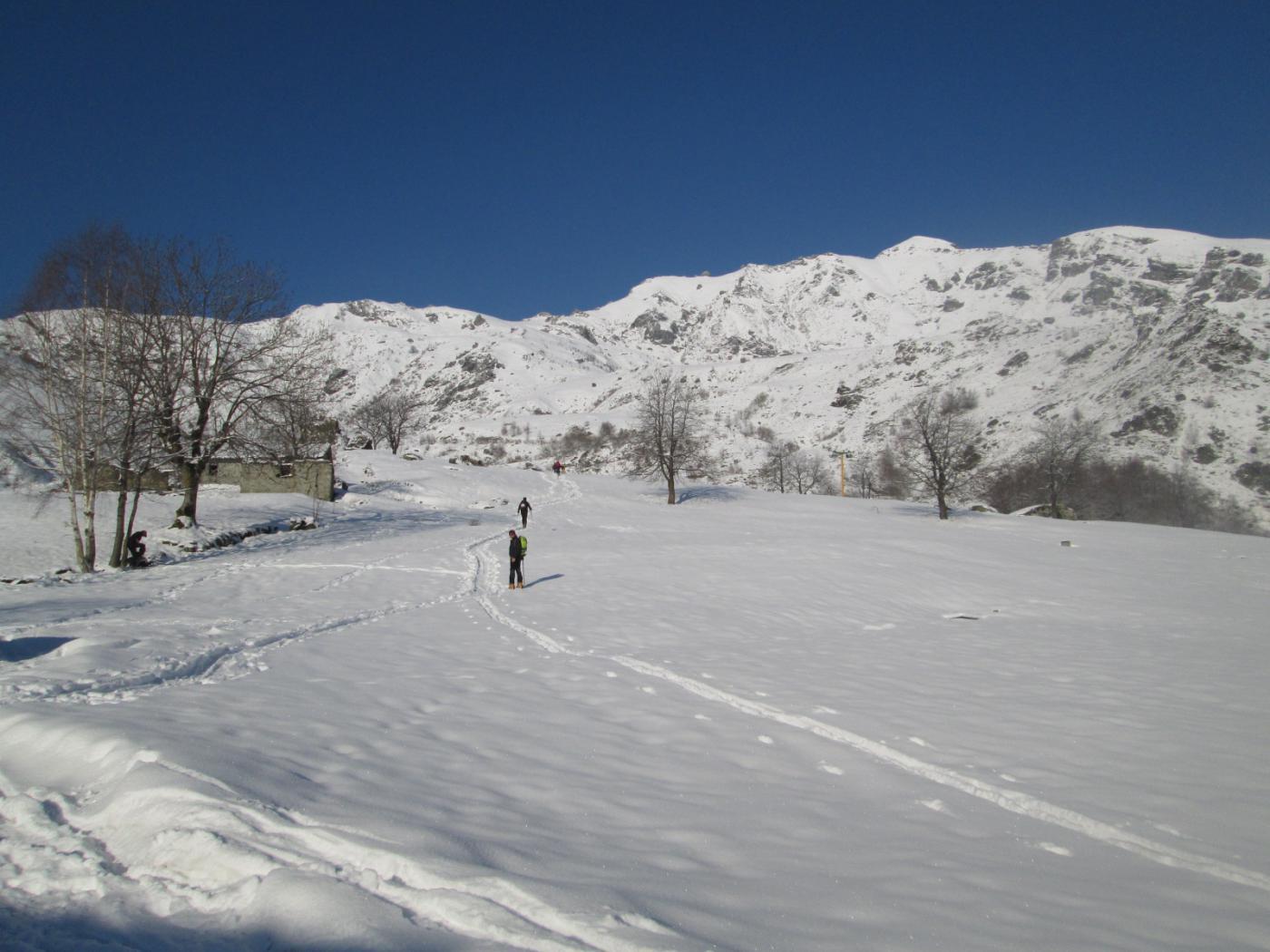 partenza dall'Alpe Bianca