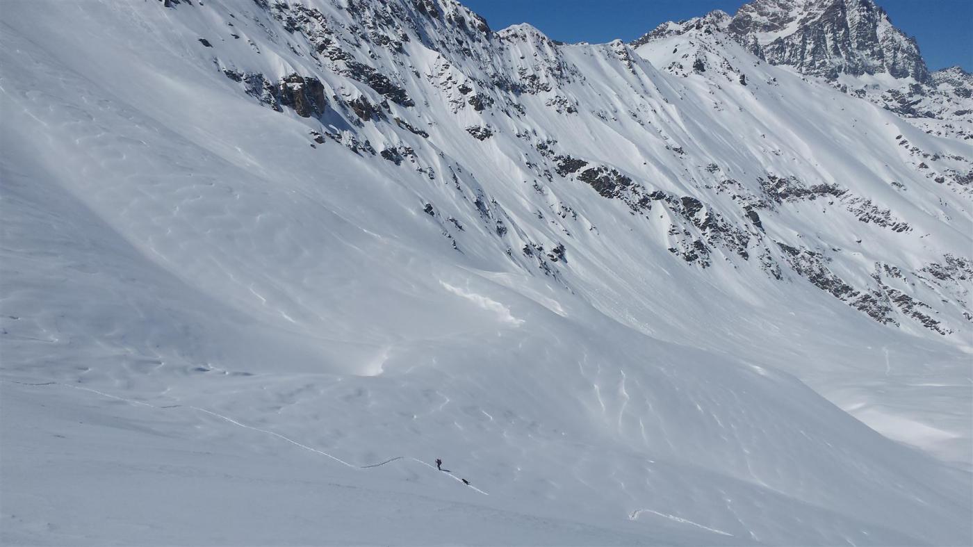dalla cima il vallone risalito