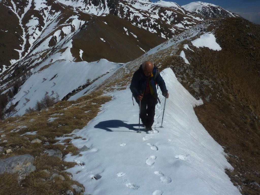 ultimi metri verso la cima  Tuor