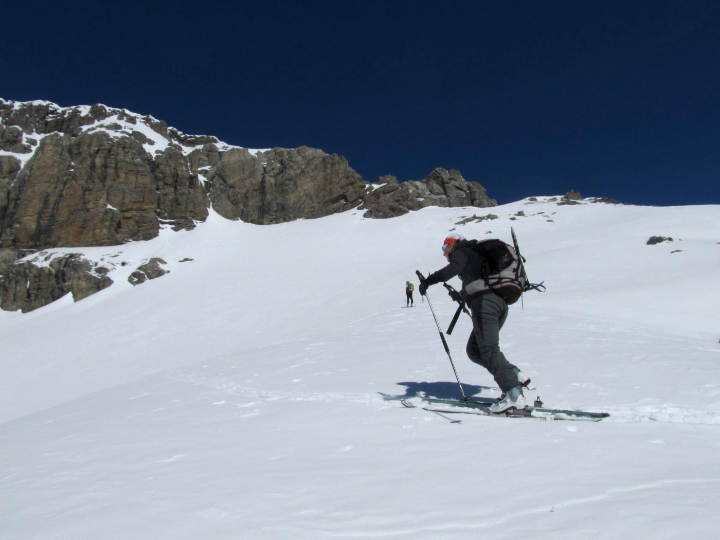 Ultimi metri con gli sci, poi cresta finale.