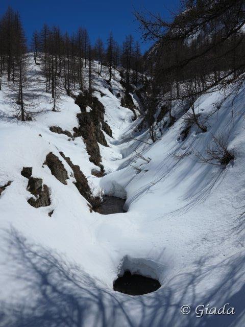 Il torrente sotto la neve