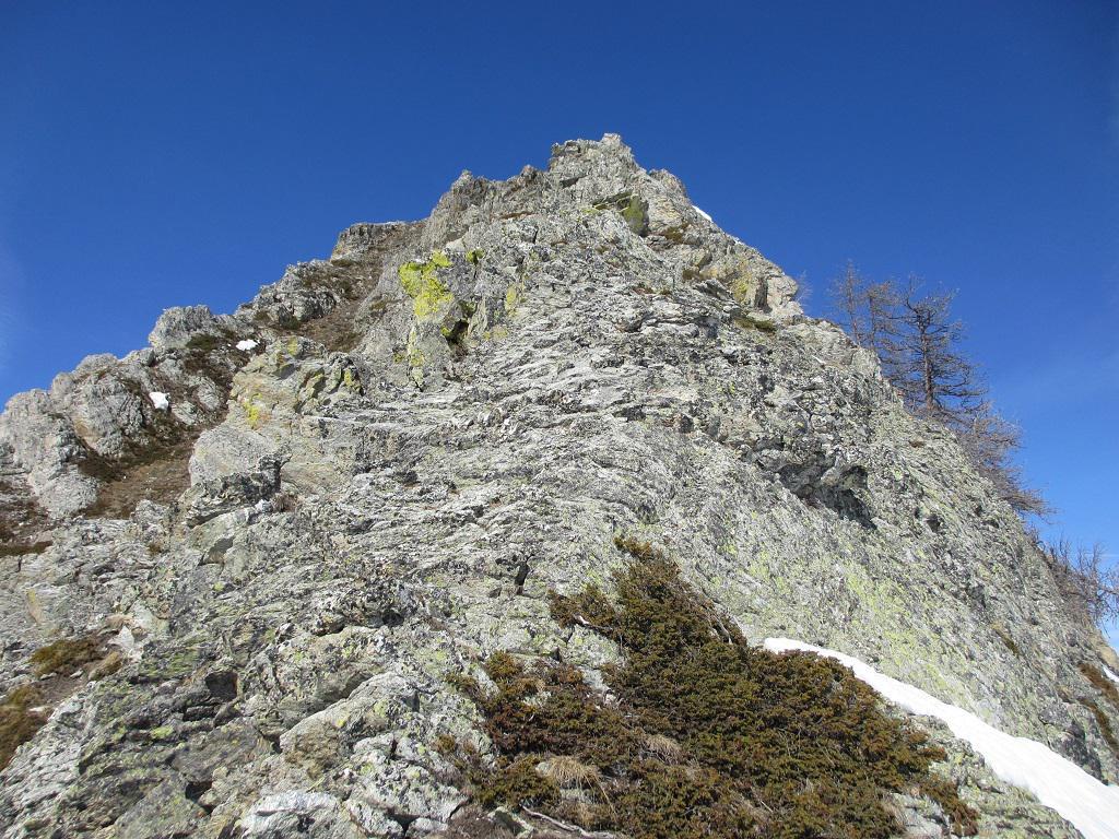 La cresta di roccette